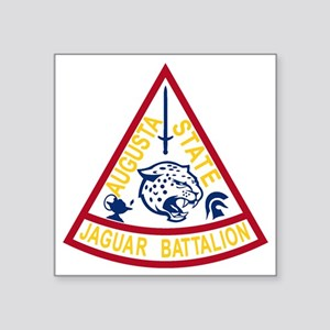"ASU Jaguar Battalion Square Sticker 3"" x 3"""