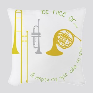 Be Nice Woven Throw Pillow