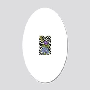 Kasey Thin 20x12 Oval Wall Decal