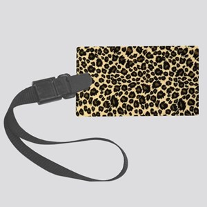 Leopard Print Large Luggage Tag