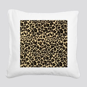 Leopard Print Square Canvas Pillow