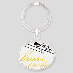 Brass To The Bone Oval Keychain