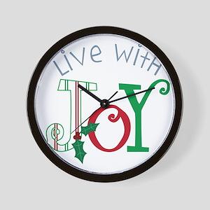 Live With Joy Wall Clock