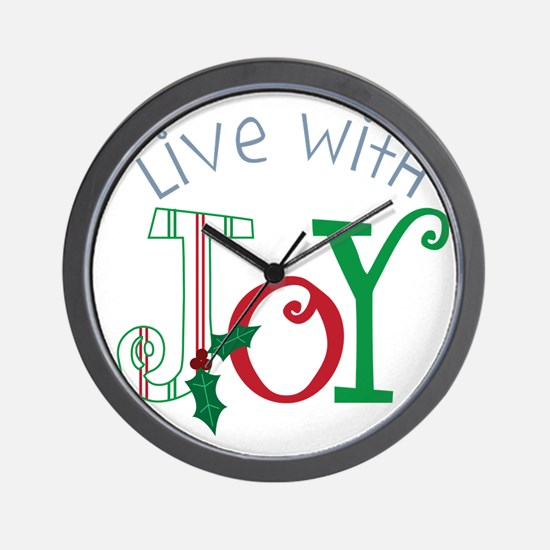Live With Joy Wall Clock