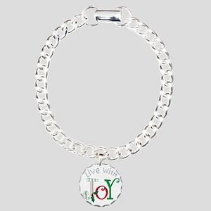 Live With Joy Charm Bracelet, One Charm
