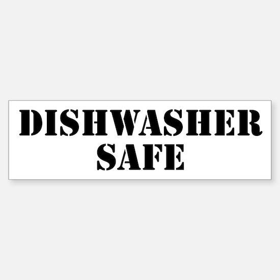 Dishwasher Safe Sticker (Bumper)