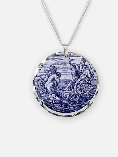 1916 Barbados Neptune Postag Necklace