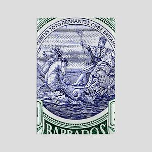 1916 Barbados Neptune Postage Sta Rectangle Magnet