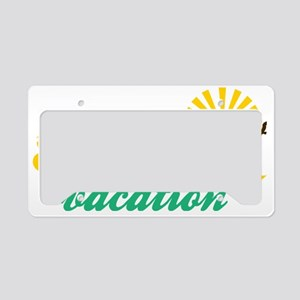 Summer Vacation License Plate Holder