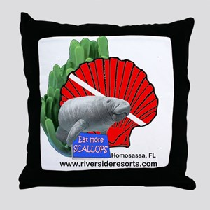 This doubles as manatee and scallop g Throw Pillow