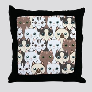 Cute Cats Throw Pillow