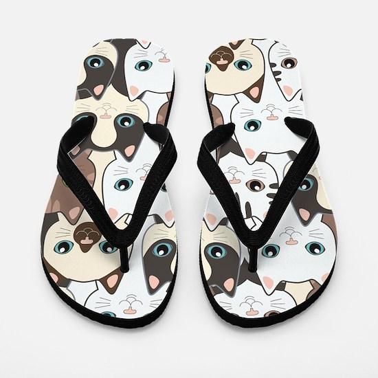 Cute Cats Flip Flops