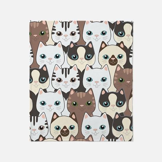 Cute Cats Throw Blanket
