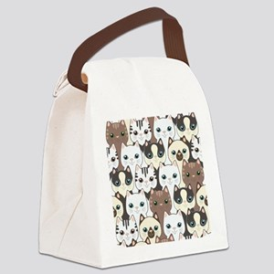 Cute Cats Canvas Lunch Bag