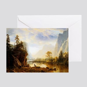 Albert Bierstadt Yosemite Valley Greeting Card