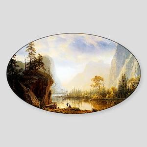 Albert Bierstadt Yosemite Valley Sticker (Oval)