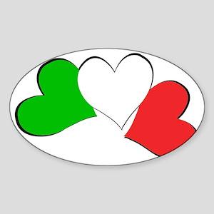 Italian Hearts Sticker (Oval)
