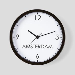 AMSTERDAM World Clock Wall Clock