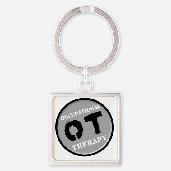 Occupational Therapy Logo Square Keychain