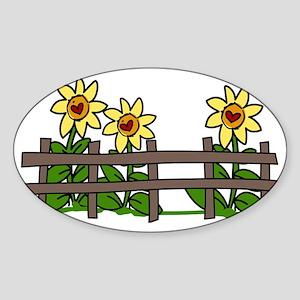 Sunflowers Sticker (Oval)