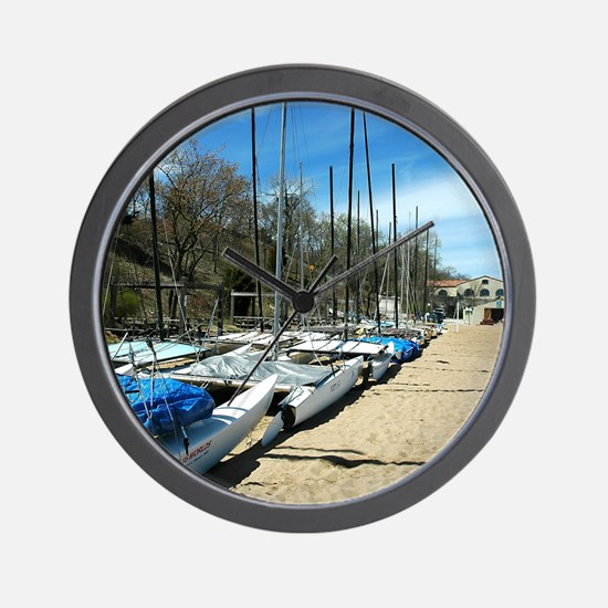 Hobie Cats Lined Up Wall Clock