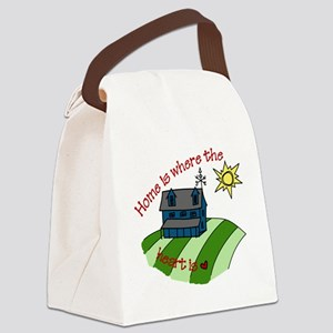 Home is Where the Heart is Canvas Lunch Bag