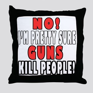 Guns Kill Throw Pillow