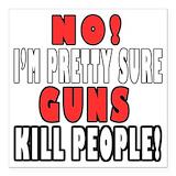 Gun control Square Car Magnets