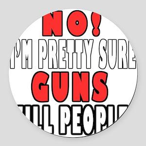 Guns Kill Round Car Magnet