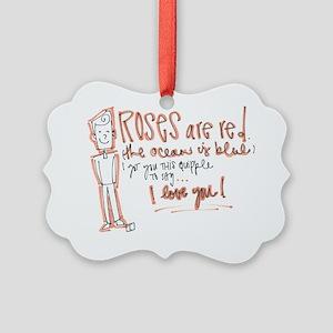 Valentines Day - Quipple Poem Picture Ornament