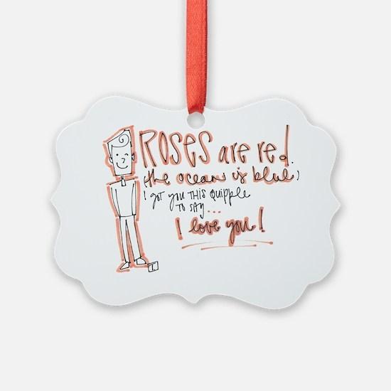 Valentines Day - Quipple Poem Ornament