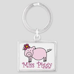 Miss Piggy Landscape Keychain