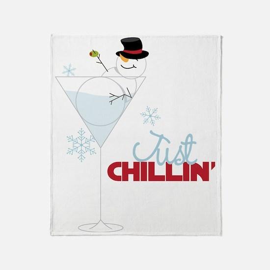 Just Chillin Throw Blanket