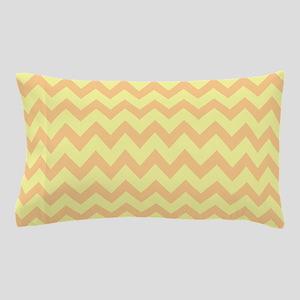 Yellow  Orange Chevron Pillow Case