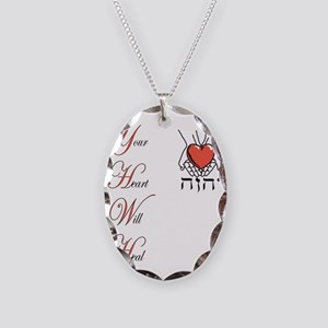 Your Heart Will Heal Necklace Oval Charm