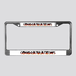 Fun congratulations gift License Plate Frame