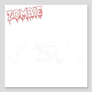 """Zombie Hunters Square Car Magnet 3"""" x 3"""""""