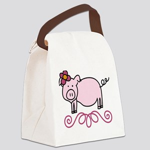Daisy Canvas Lunch Bag