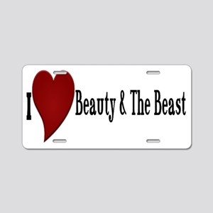Beauty and The Beast Heart  Aluminum License Plate