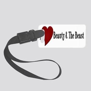 Beauty and The Beast Heart Desig Small Luggage Tag