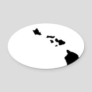 Hawaiian Islands Oval Car Magnet