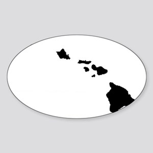 Hawaiian Islands Sticker (Oval)