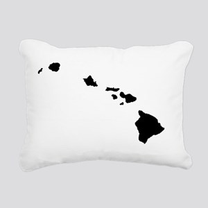Hawaiian Islands Rectangular Canvas Pillow