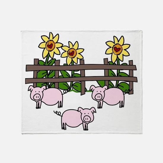Oink Oink Throw Blanket