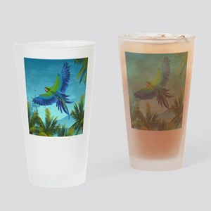 Tropical Bird Drinking Glass