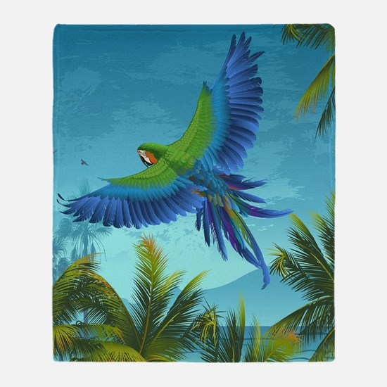Tropical Bird Throw Blanket