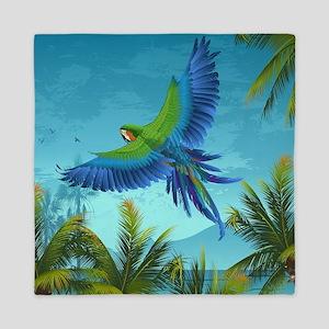 Tropical Bird Queen Duvet