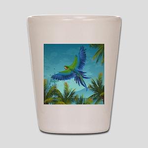 Tropical Bird Shot Glass