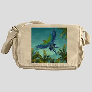 Tropical Bird Messenger Bag