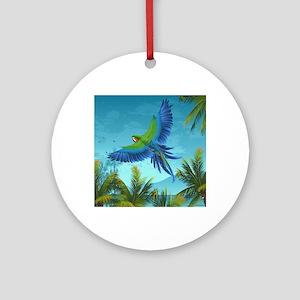 Tropical Bird Round Ornament